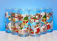 """Набор высоких стаканов 280 мл """"Рождественский сапожок""""."""
