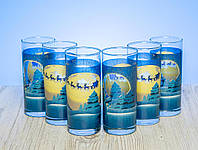 """Набор высоких стаканов 280 мл """" Рождественская ночь"""" 6 шт."""