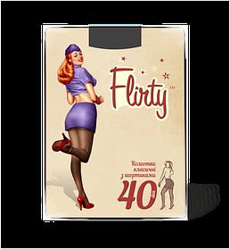 Колготки Flirty женские с заниженной талией nero 40 den размер 3