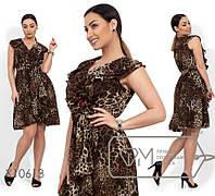 Ошатне жіноче шифонова літній сукні великих розмірів (р. 48-54). Арт-2498/15, фото 1