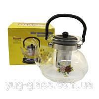 """Заварочный стеклянный чайник 1400 мл """"6014"""" 1 шт."""