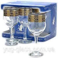 "Набор бокалов 240 мл для вина GE08-163 рисунок ""Версаче"" 6 шт."