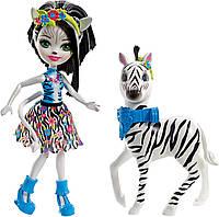 Кукла Зелена Зебра Enchantimals Zelena Zebra Doll зеленая зибра Энчантималс оригинал