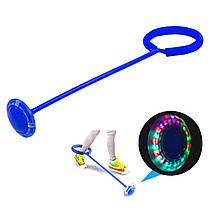 Скакалка на ногу светящаяся, (нейро скакалка) скакалка крутилка с колесиком разные цвета