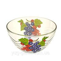"""Салатник стеклянный 15 см (9с1449) """"Сидней"""" рисунок фрукты в ассортименте., фото 1"""