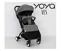 Детская прогулочная коляска YOYA YES СЕРАЯ