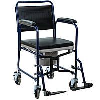 Складная кресло-каталка с санитарным оснащением OSD-YU-JBS367A, Стул-туалет для инвалидов
