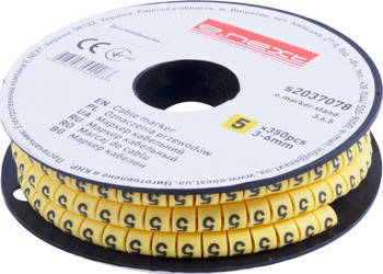 "Маркер кабельний e.marker.stand.3.6.5, 3-6 кв.мм, ""5"", 350 шт, фото 2"