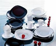 """Сервиз столовый 30 предметный Carine Black/White """"D2382"""" Luminarc."""