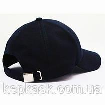 Бейсболка котон темно-синяя FASHION (ТКАНЬ-ТОЧКА), фото 2