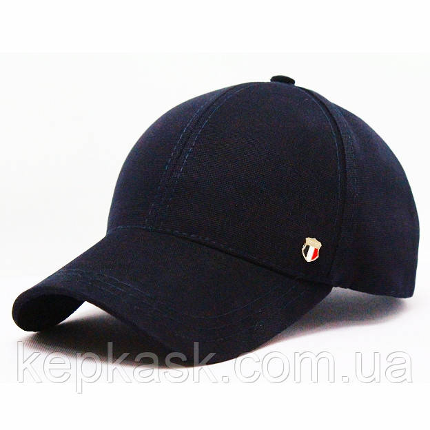 Бейсболка котон темно-синяя FASHION (ТКАНЬ-ТОЧКА)