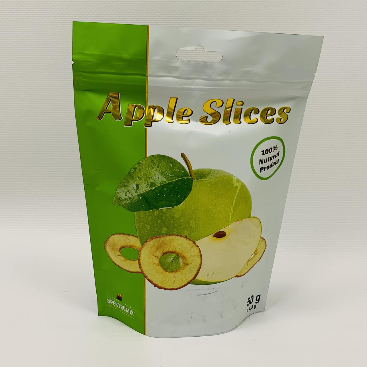 Слайсы яблочные (зеленые), 50 г, Спектрумикс
