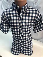 "Рубашка No Brand на мальчика (7-12) 1405-11 черн-бел клетка крупн ""Gallen"" LM/PD-2161"