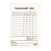 Товарный чек, А6, блок, газетная бумага
