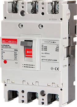 Силовий автоматичний вимикач e.industrial.ukm.250S.250, 3р, 250А, фото 2