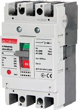Силовий автоматичний вимикач e.industrial.ukm.60S.10, 3р, 10А