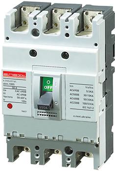 Силовий автоматичний вимикач e.industrial.ukm.100S.63, 3р, 63А