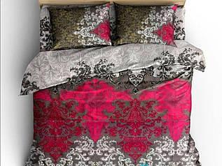 Комплект постельного белья евро Пара фламинго