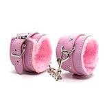 Гламурные наручники с мехом розового цвета, фото 3