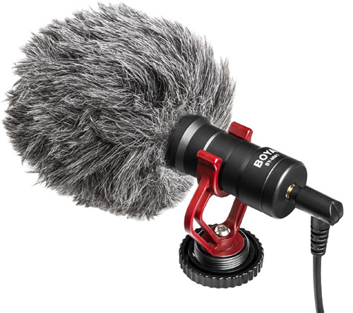 Микрофон конденсаторный Boya BY-MM1 Для видеокамеры, а также смартфонов, и планшетов.