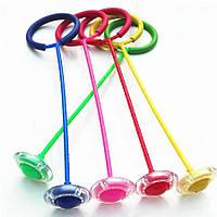 Нейроскакалка Светящаяся скакалка с колесиком на одну ногу 4 цвета