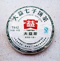 """Мэнхайский шэн пуэр рецепт """"7542"""" TAE TEA  2011 год 357 грамм"""