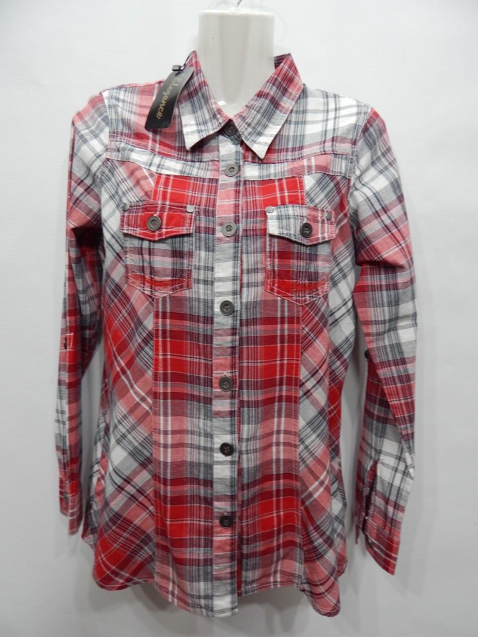 Блуза - рубашка фирменная женская MULTIBLU хлопок 46-48 р., 212бж