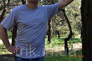 Серая мужская футболка хлопок 100% меланж, фото 2