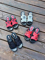 Шльопанці в стилі Fila літні червоні пляжні шльопанці жіночі тапочки червоні пляжні жіночі, фото 2