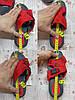 Шльопанці в стилі Fila літні червоні пляжні шльопанці жіночі тапочки червоні пляжні жіночі, фото 4