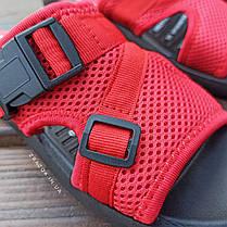 Шльопанці в стилі Fila літні червоні пляжні шльопанці жіночі тапочки червоні пляжні жіночі, фото 3
