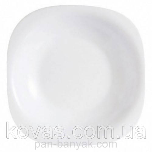 Тарелка глубокая Luminarc Carine White квадратная 21х21 см стеклокерамика (3667H/5406)