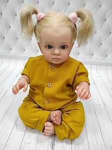 Детский ромпер из льна  Горчица