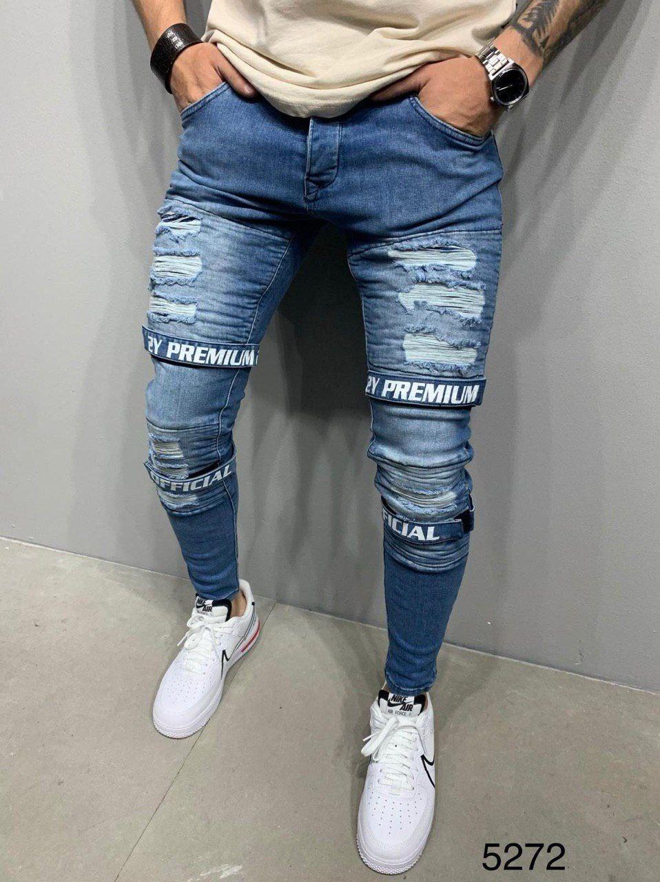 Мужские джинсы синие 2Y Premium 5272