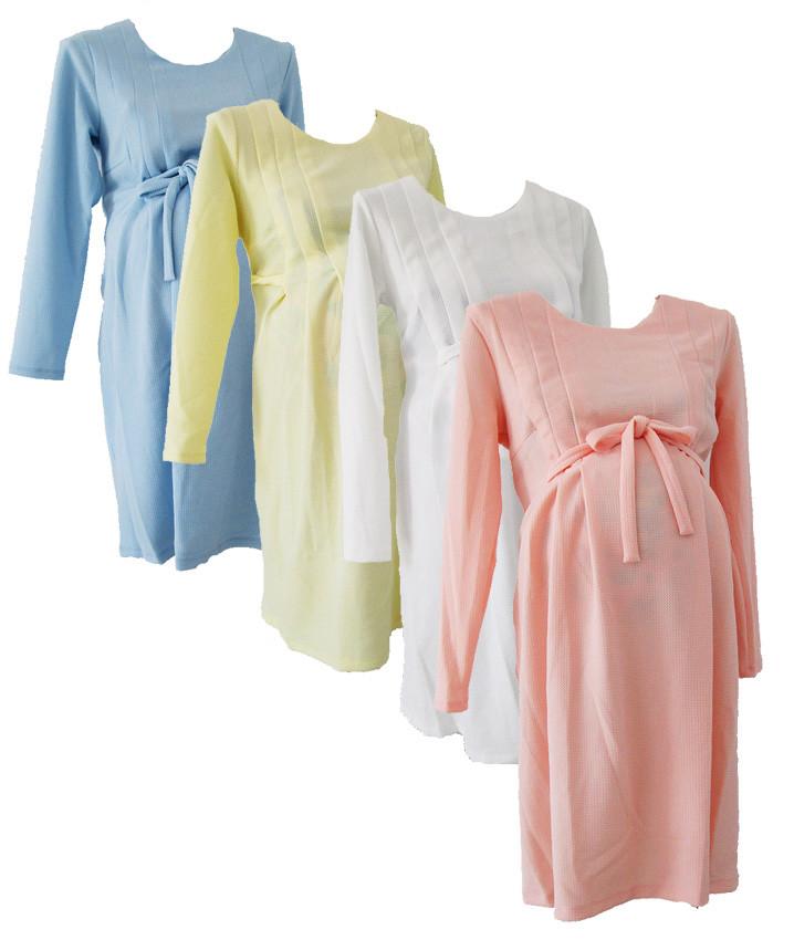 Купить Платье для беременных с длинным рукавом на поясе, интернет магазин, одежда для беременных, трикотаж 50, розовое, Мир Текстиля