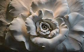 """3D фотообои """"Гипсовая роза"""""""
