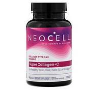 Супер коллаген с витамином С, тип 1 и 3, Neocell,  120 таблеток