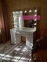 """Стол для визажиста """"Кристалл"""", гримерное зеркало с подсветкой,туалетный столик для макияжа, белый, фото 10"""