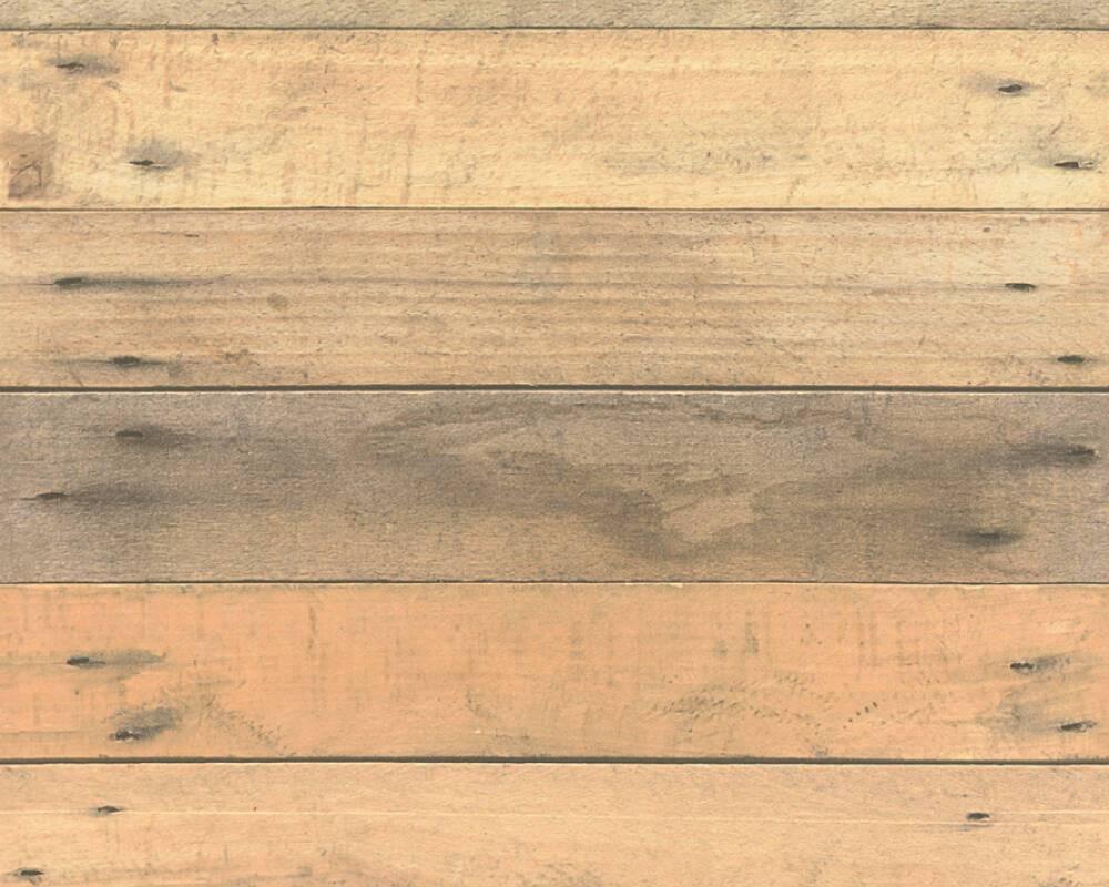 Износостойкие 3д обои 368701 под настоящие деревянные доски бежевых и коричневых оттенков