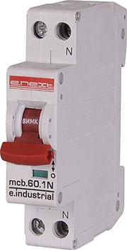 Модульний автоматичний вимикач e.industrial.mcb.60.1N.C25.thin, 1+N р, 25А, C,