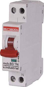 Модульний автоматичний вимикач e.industrial.mcb.60.1N.C25.thin, 1+N р, 25А, C,  , фото 2