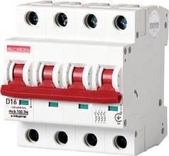Модульний автоматичний вимикач e.industrial.mcb.100.3 N. D16, 3р+N, 16А, D, 10кА
