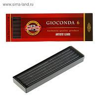 Грифели графит натуральный твердый для цанговых карандашей 5.6мм Koh-I-Noor 4345/1 HB 06шт