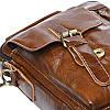 Мужская кожаная сумка через плечо Borsa Leather K15027-brown, фото 7