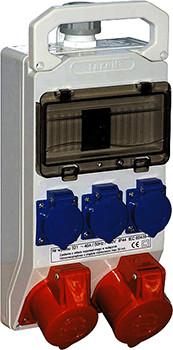 Монтажний набір - вікно 8 мод, 32А 3P+N+Z 400V, 16A 3P+N+Z 400V, 3x16A 2P+Z 250V