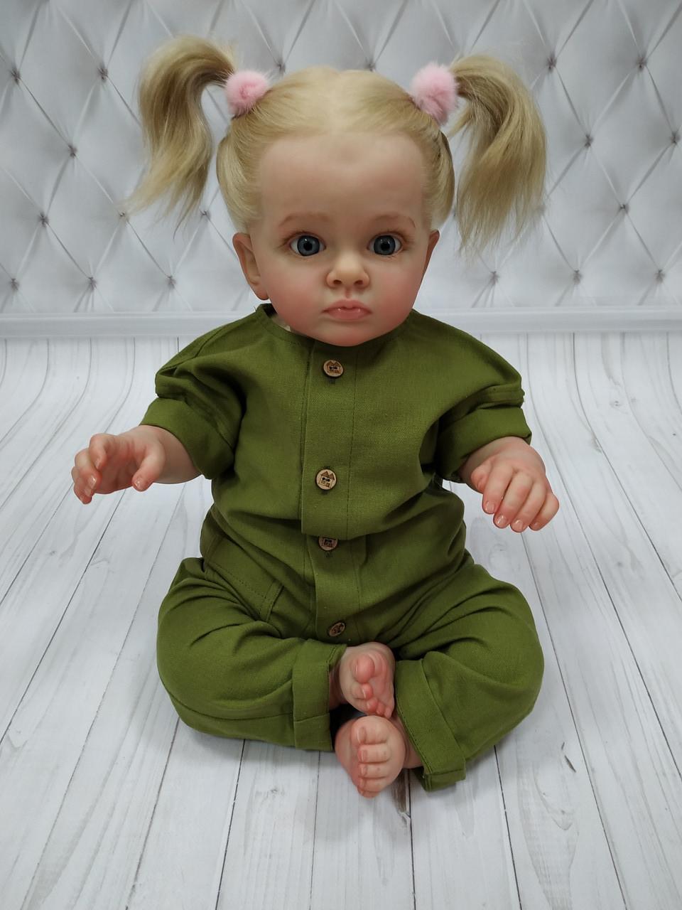 Детский ромпер из льна  Зеленый