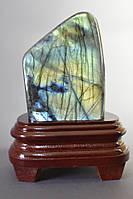 Сувенир натуральный камень Лабрадор на подставке 0,740гр Код: 3684168