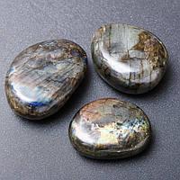 Сувенир натуральный камень Лабрадор ассорти размеров Код: 3684555