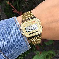 Мужские наручные электронные часы CASIO (Касио), золотой