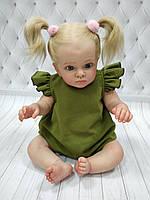 Песочник для девочки из Льна Зеленый